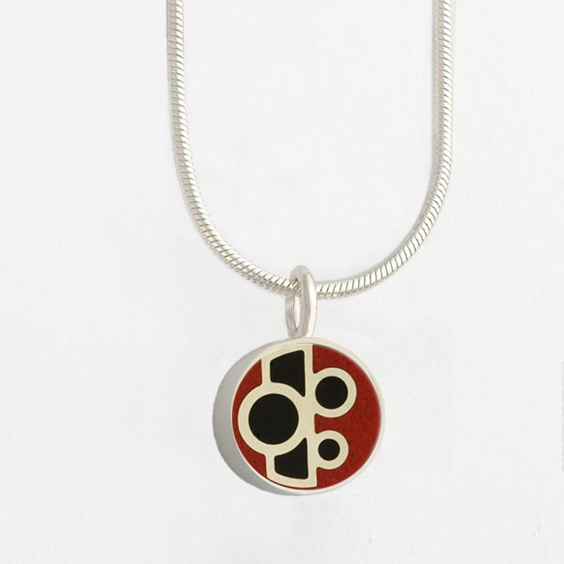 3451 s mini round art deco pendant victoria varga jewelry 3451 s mini round art deco pendant aloadofball Images