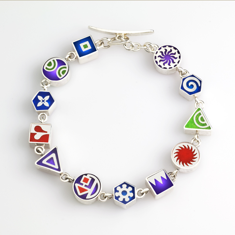 Square Charm Bracelet: 3575 Mini Square Charm Bracelet
